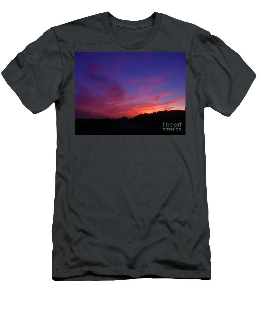 Sunset Men's T-Shirt (Athletic Fit) featuring the photograph August 26 2008 by Mark Gilman