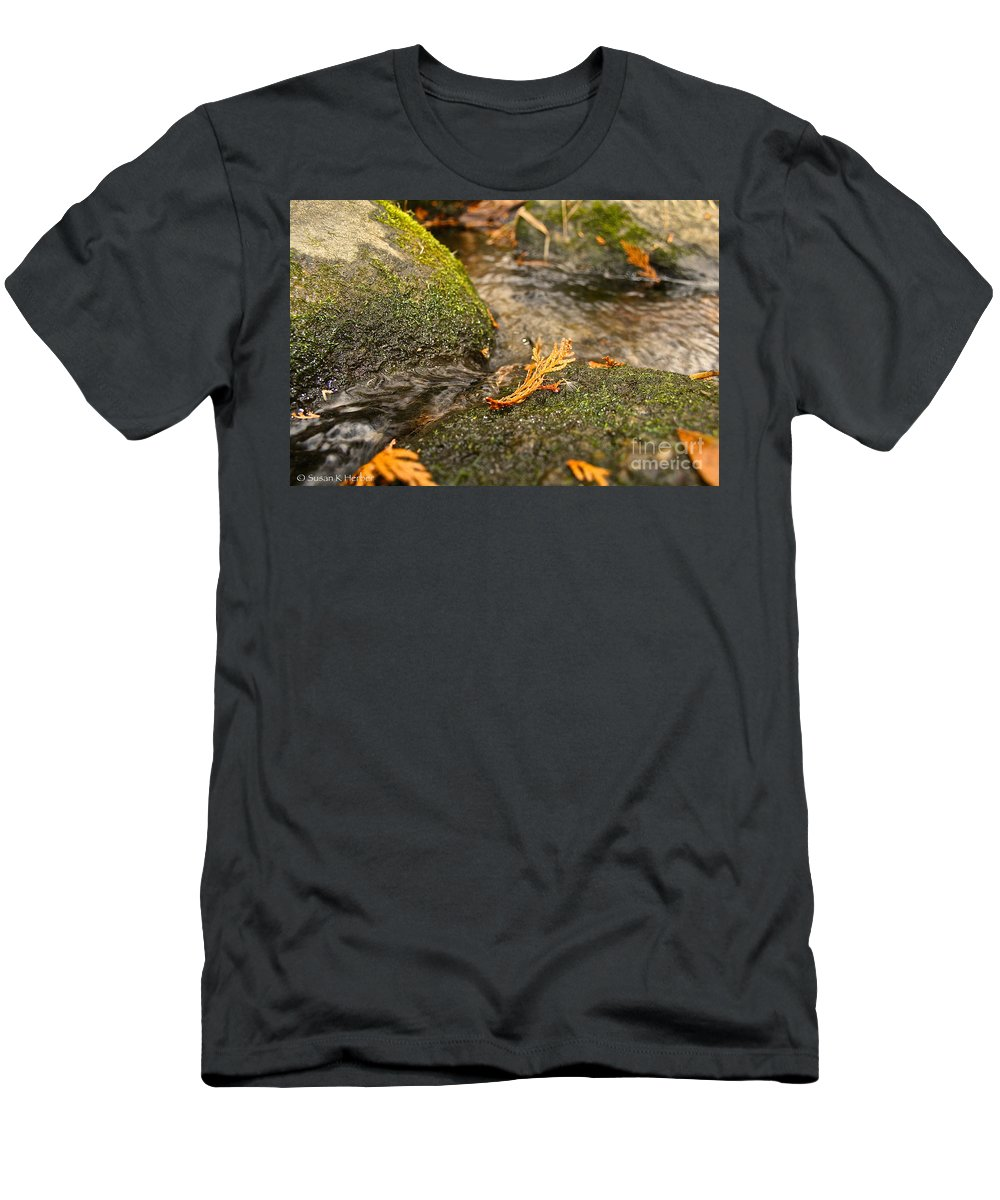Outdoors Men's T-Shirt (Athletic Fit) featuring the photograph Autumn Creek by Susan Herber