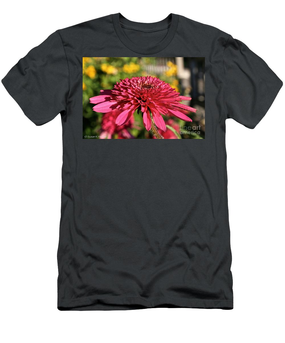 Outdoors Men's T-Shirt (Athletic Fit) featuring the photograph Autumn Pink by Susan Herber