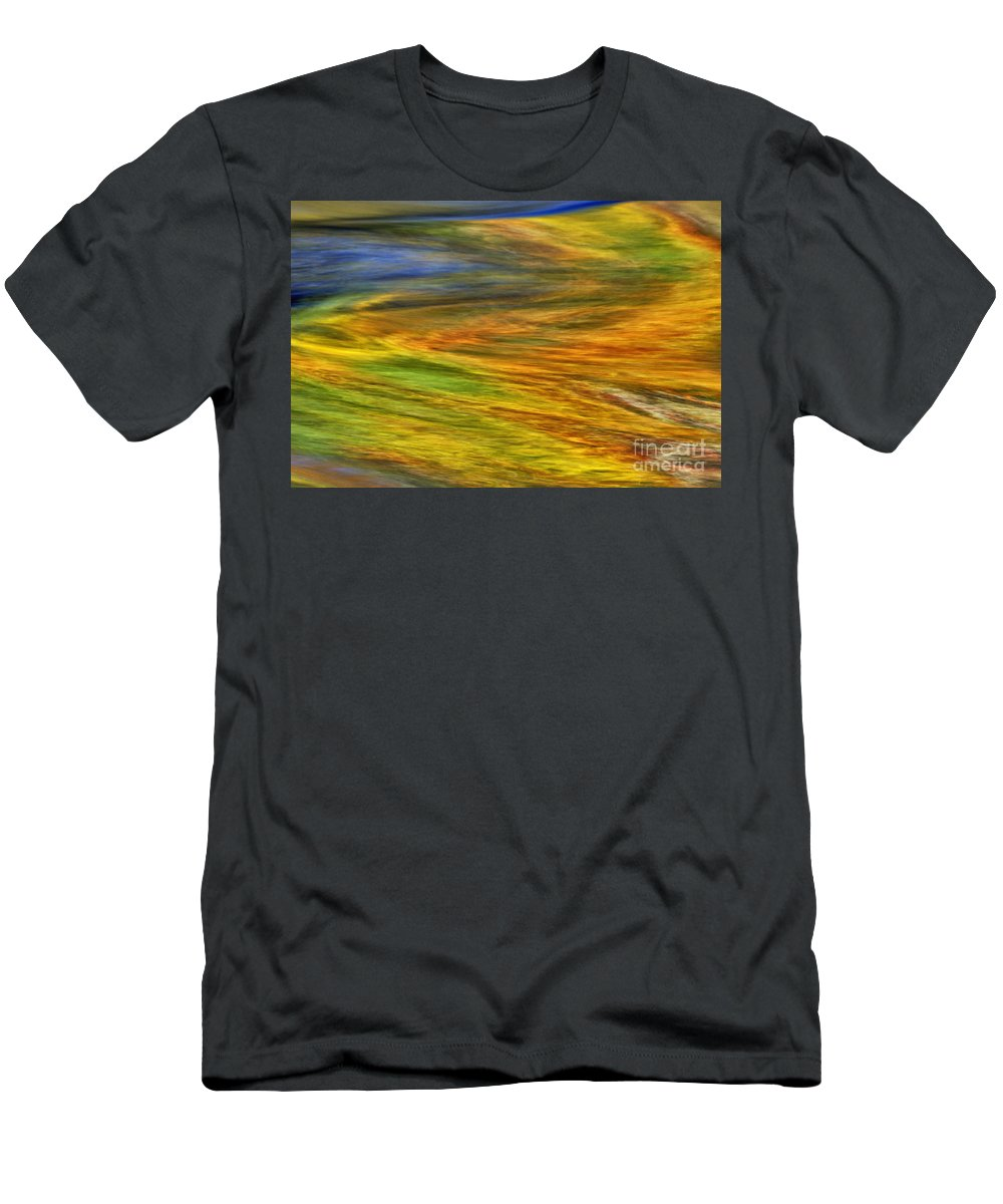 Abstract Men's T-Shirt (Athletic Fit) featuring the photograph Autumn Reflections - D006078 by Daniel Dempster