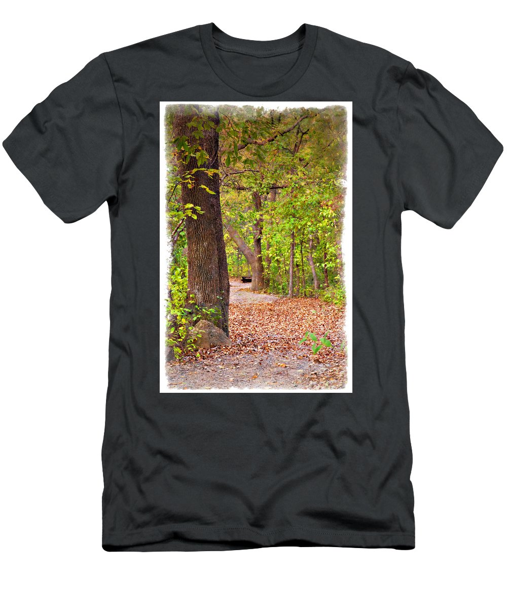 Autumn Men's T-Shirt (Athletic Fit) featuring the photograph Autumn Walk - Impressions by Ricky Barnard