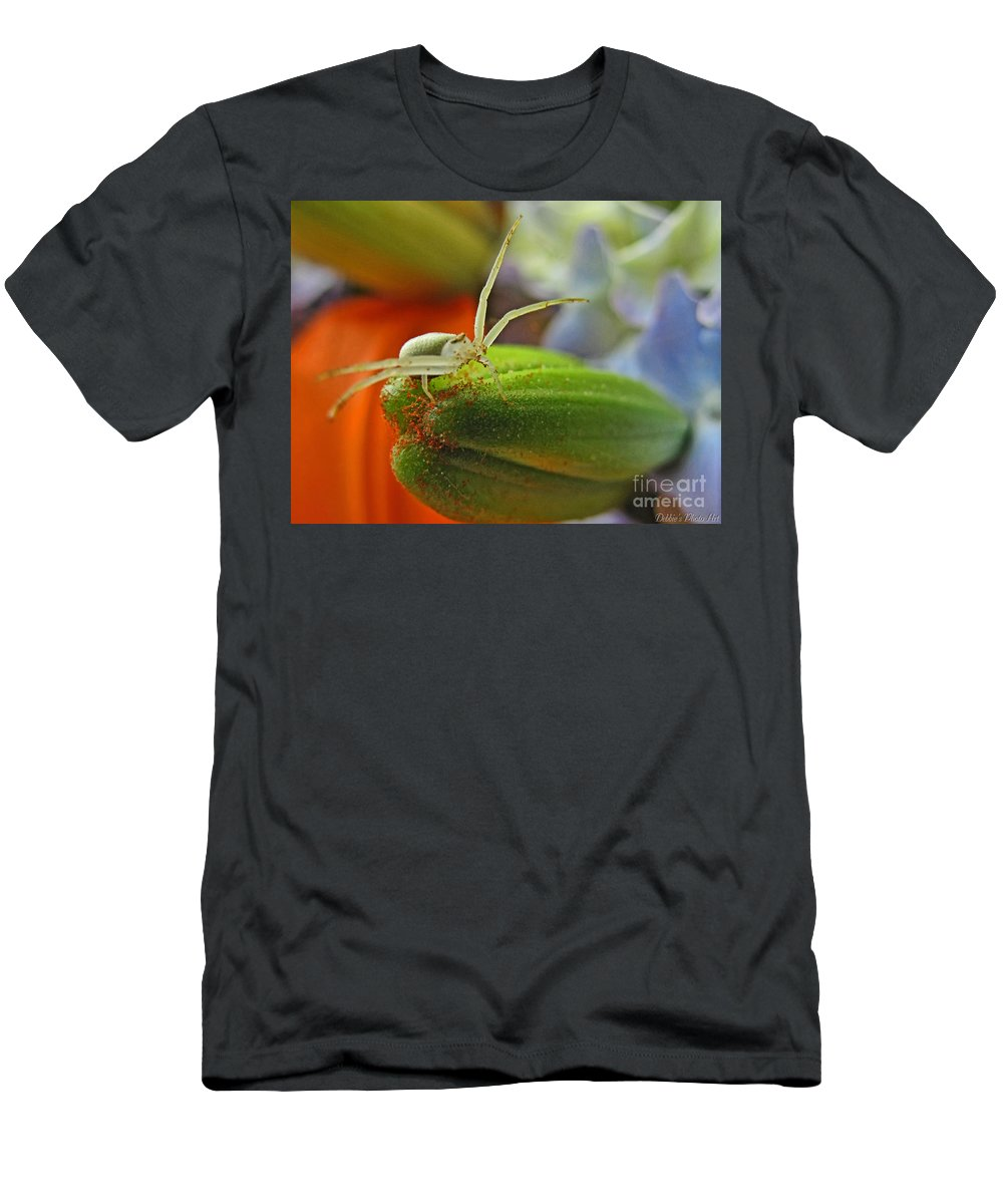 Nature Men's T-Shirt (Athletic Fit) featuring the photograph Back Off by Debbie Portwood