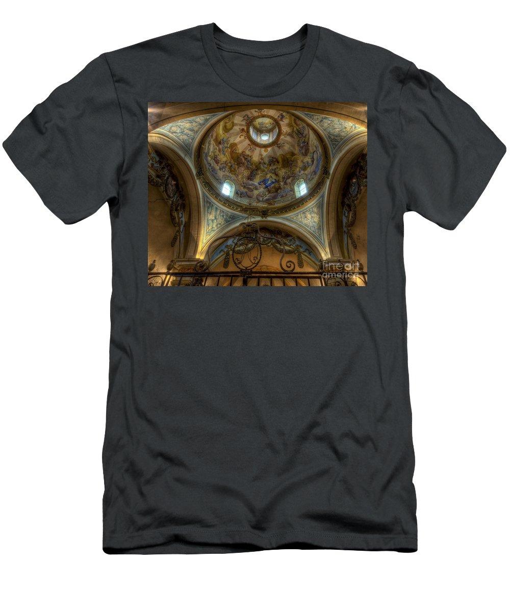 Clare Bambers Men's T-Shirt (Athletic Fit) featuring the photograph Baroque Church In Savoire France 5 by Clare Bambers
