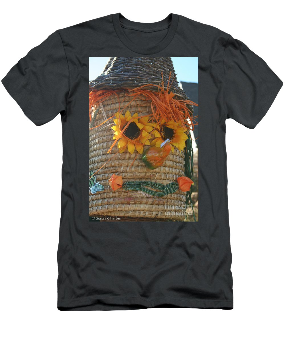 Fall Men's T-Shirt (Athletic Fit) featuring the photograph Basket Head by Susan Herber