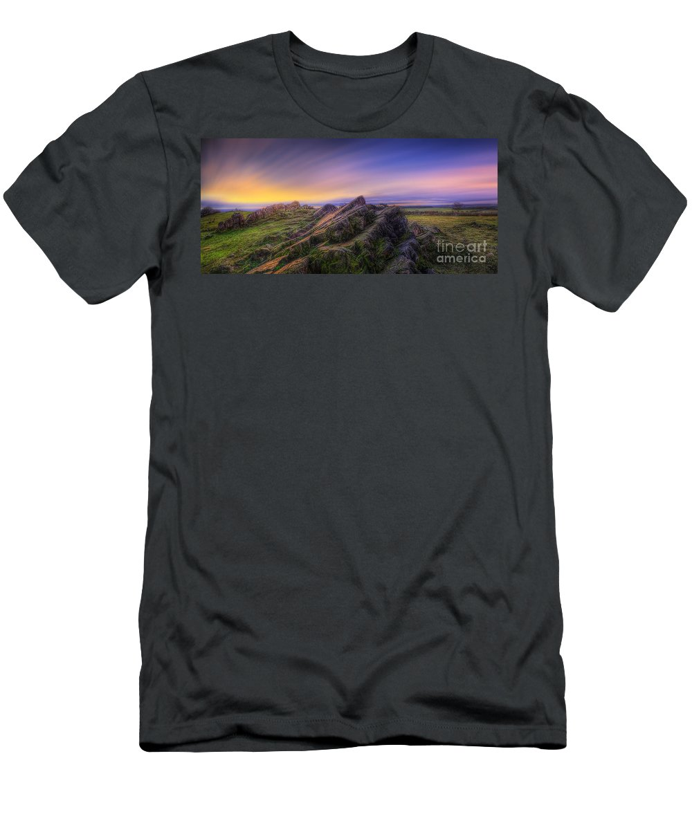 Panorama Men's T-Shirt (Athletic Fit) featuring the photograph Beacon Hill Sunrise 7.0 by Yhun Suarez