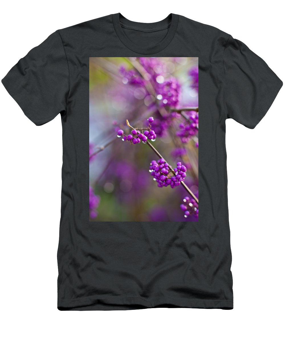 Beauty Berry Men's T-Shirt (Athletic Fit) featuring the photograph Beauty Berry Explosion by Mike Reid