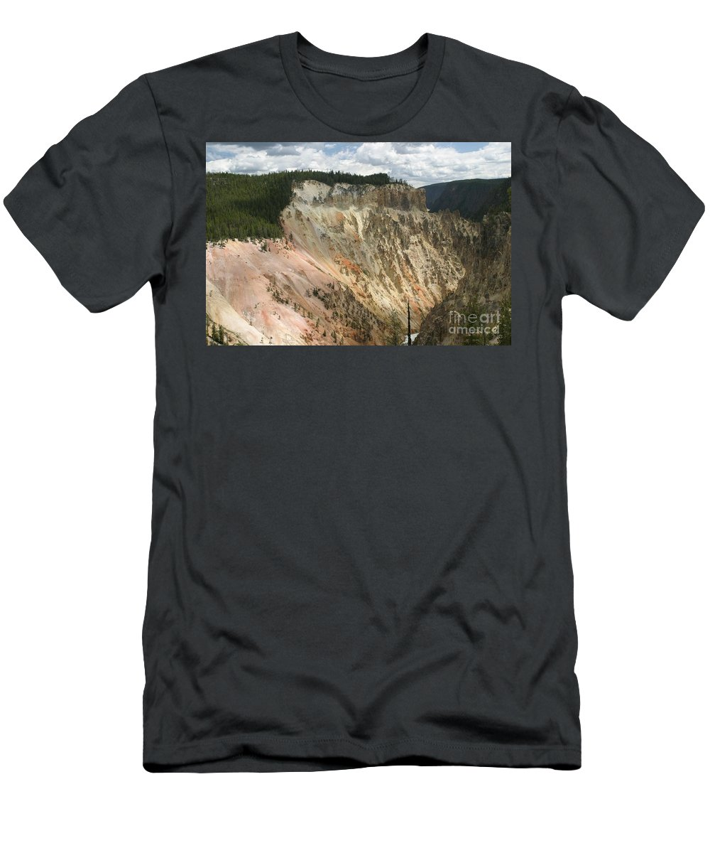 Grand Canyon Men's T-Shirt (Athletic Fit) featuring the photograph Beauty Of The Grand Canyon In Yellowstone by Living Color Photography Lorraine Lynch