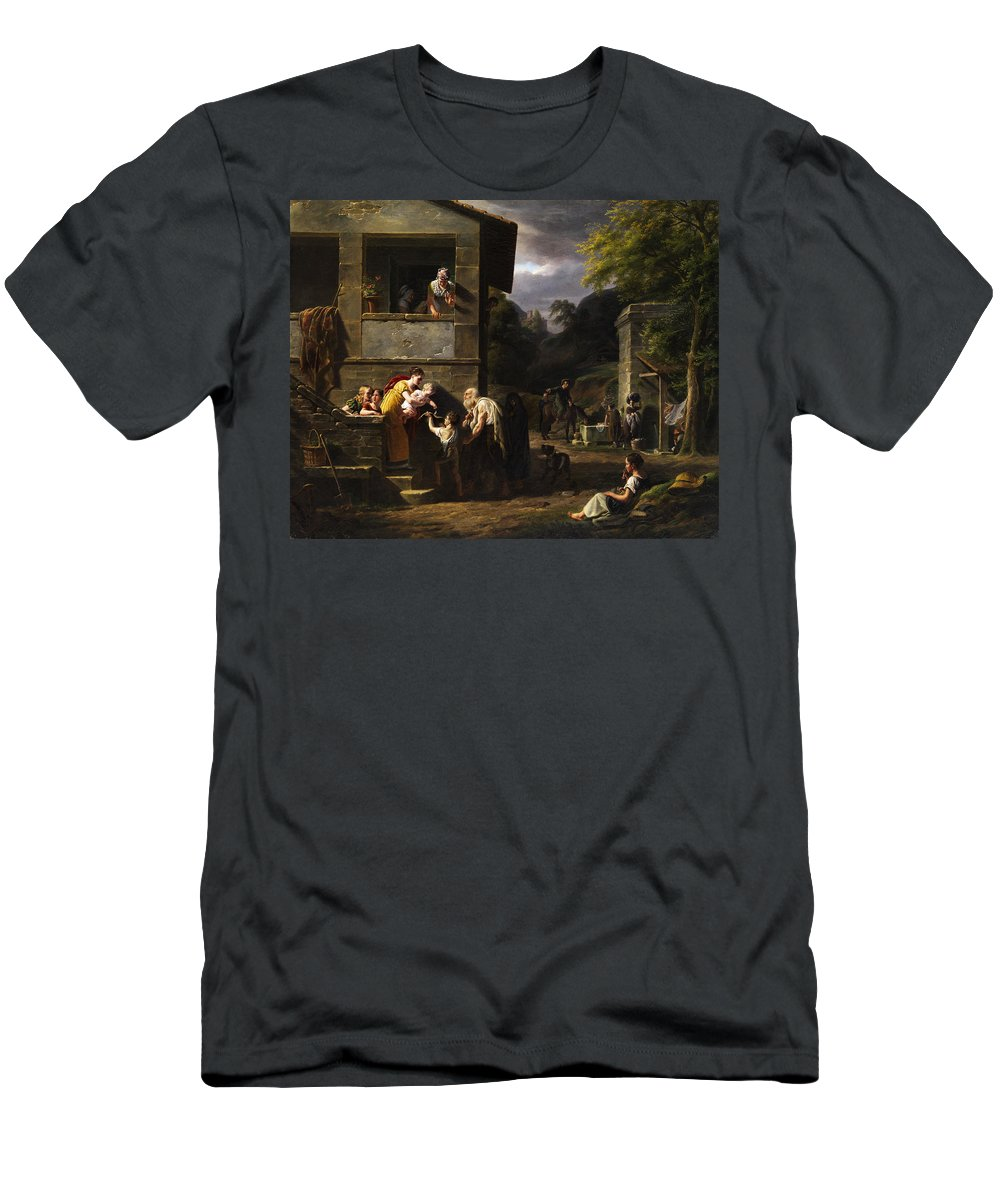 Beggar Men's T-Shirt (Athletic Fit) featuring the painting Beggar by Antoine Beranger