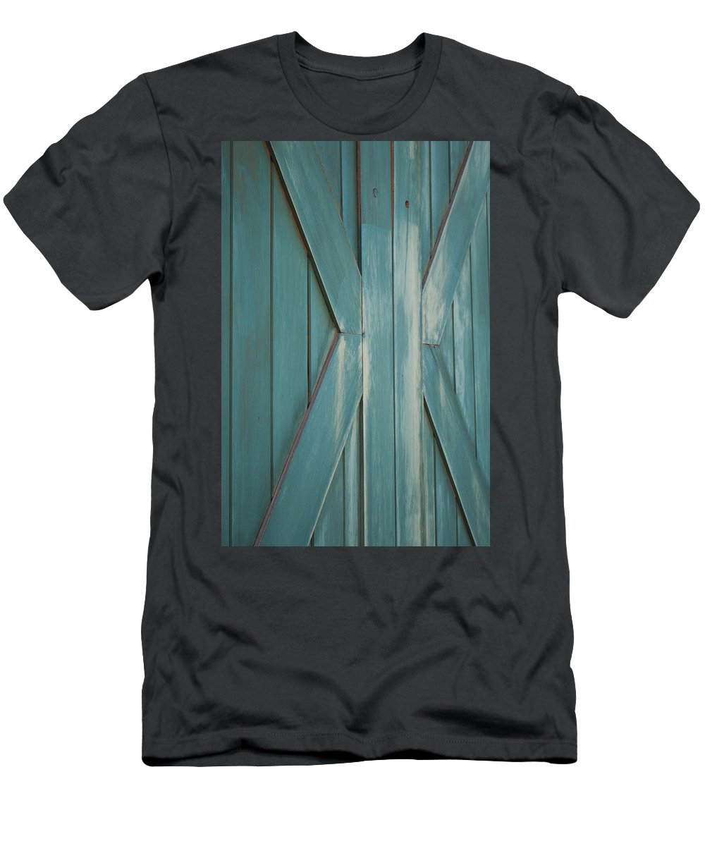 Door Men's T-Shirt (Athletic Fit) featuring the photograph Behind Closed Doors by Colleen Coccia