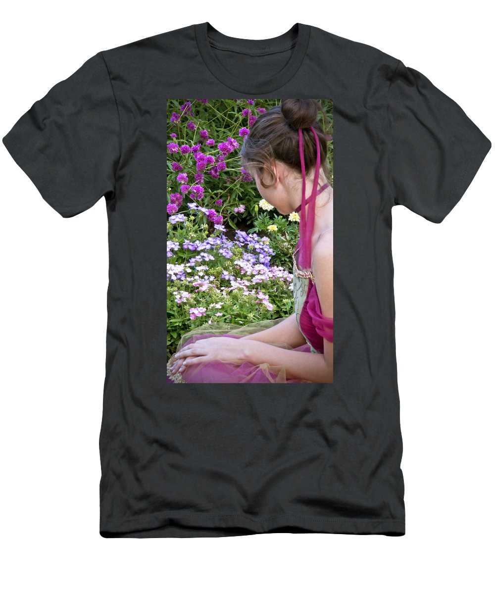 Girl Men's T-Shirt (Athletic Fit) featuring the photograph Belle In The Garden by Angelina Vick