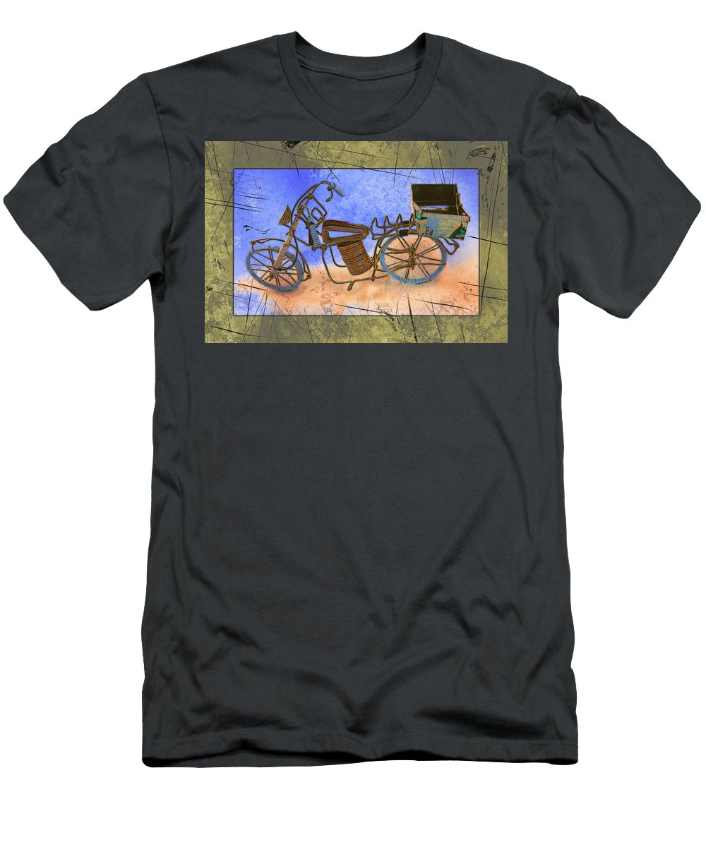 Art Men's T-Shirt (Athletic Fit) featuring the pyrography Bike 2a by Mauro Celotti