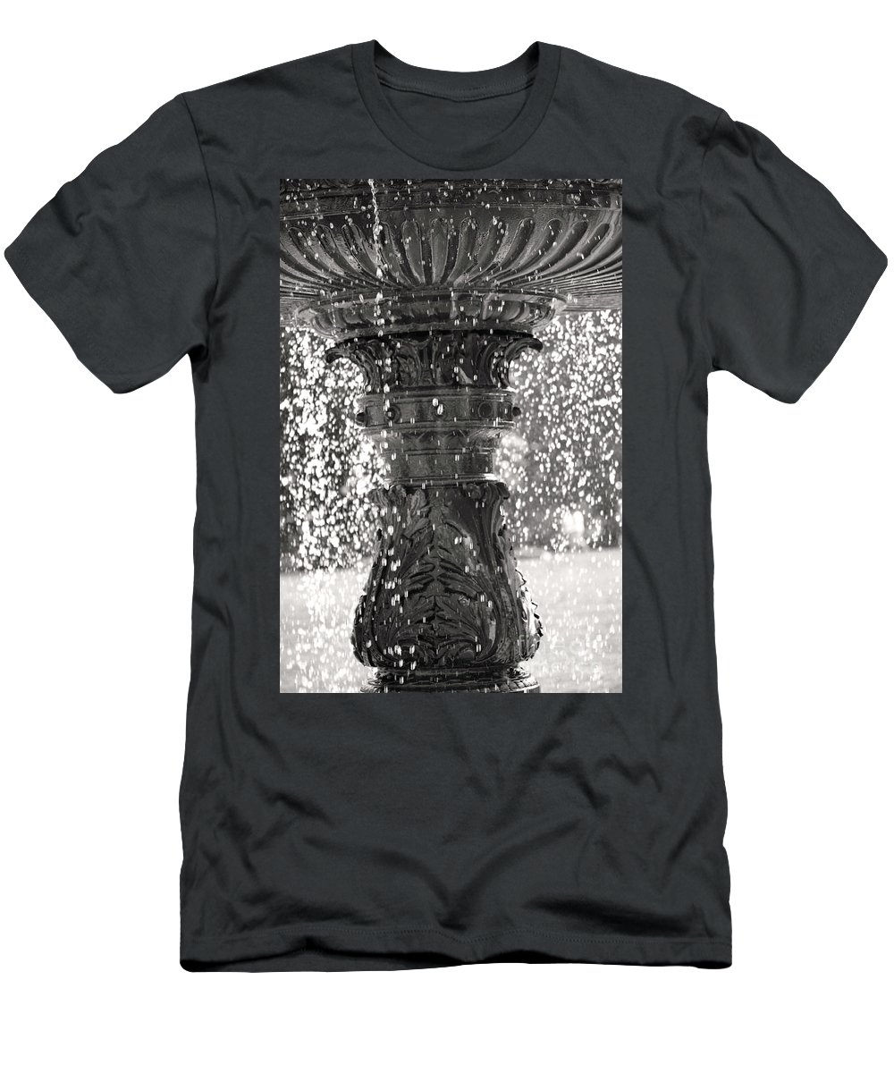 British Columbia Men's T-Shirt (Athletic Fit) featuring the photograph Bird Fountain Of Tears by Traci Cottingham