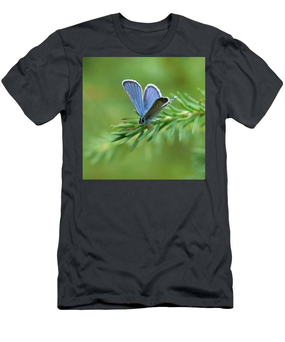 Sinisiipi Men's T-Shirt (Athletic Fit) featuring the photograph Blue 5 by Jouko Lehto