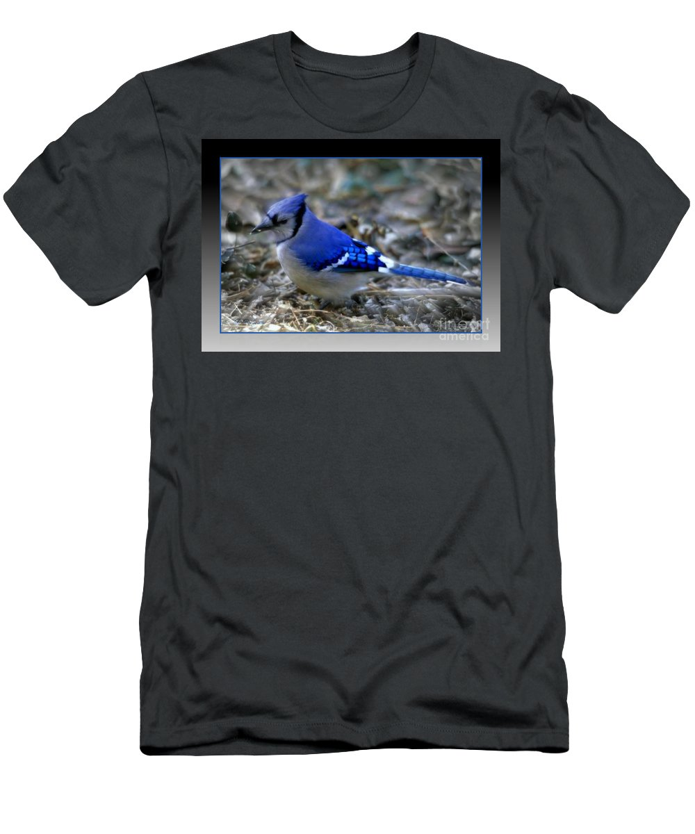 Blue Jay Men's T-Shirt (Athletic Fit) featuring the photograph Blue Jay by Donna Bentley