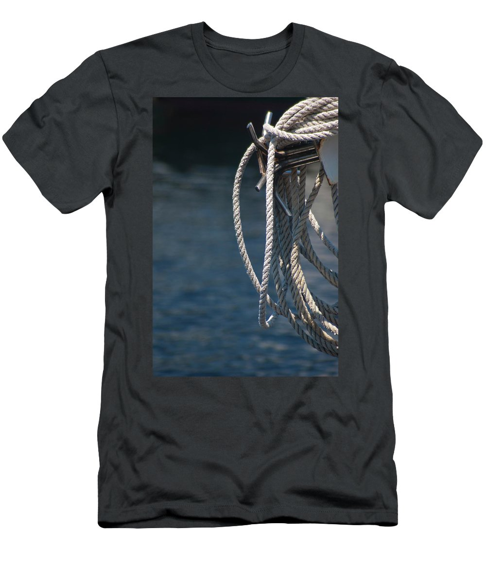 Boat Men's T-Shirt (Athletic Fit) featuring the photograph Boating Time by Carolyn Marshall