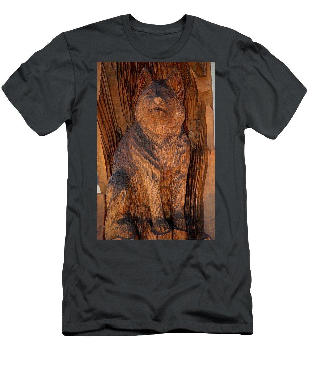 Usa Men's T-Shirt (Athletic Fit) featuring the photograph Bobcat Reflections by LeeAnn McLaneGoetz McLaneGoetzStudioLLCcom