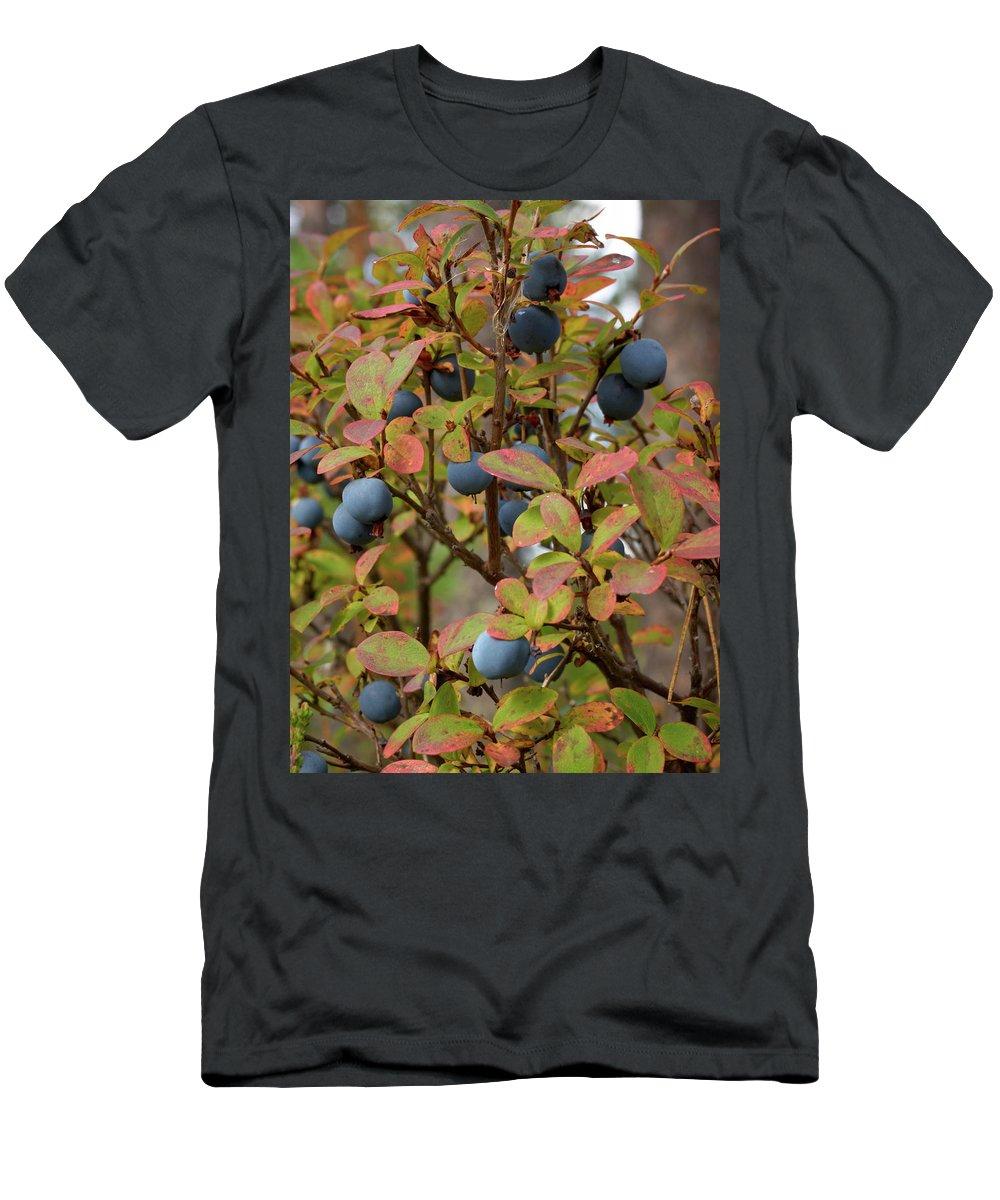 Jouko Lehto Men's T-Shirt (Athletic Fit) featuring the photograph Bog Bilberry by Jouko Lehto