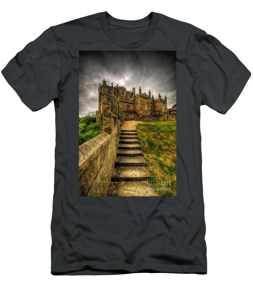 Art Men's T-Shirt (Athletic Fit) featuring the photograph Bolsover Castle by Yhun Suarez