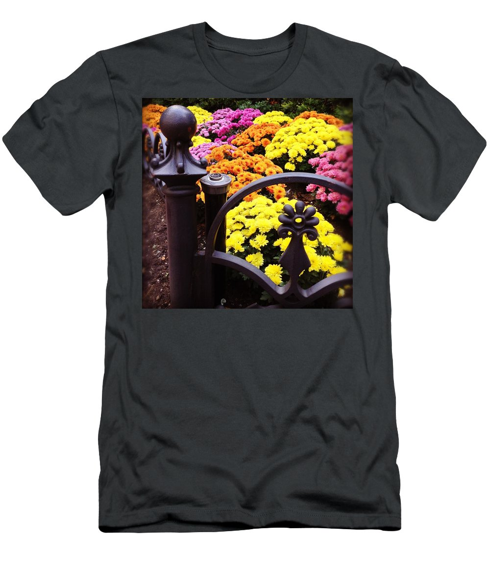 Men's T-Shirt (Athletic Fit) featuring the photograph Boston Flowers by Mark Valentine