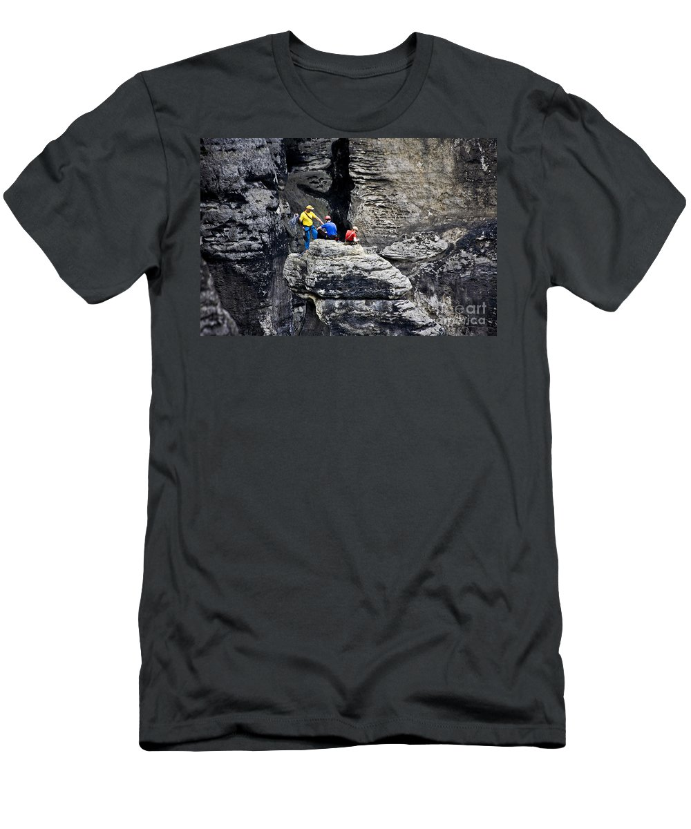 Germany Men's T-Shirt (Athletic Fit) featuring the photograph Bouldering by Heiko Koehrer-Wagner