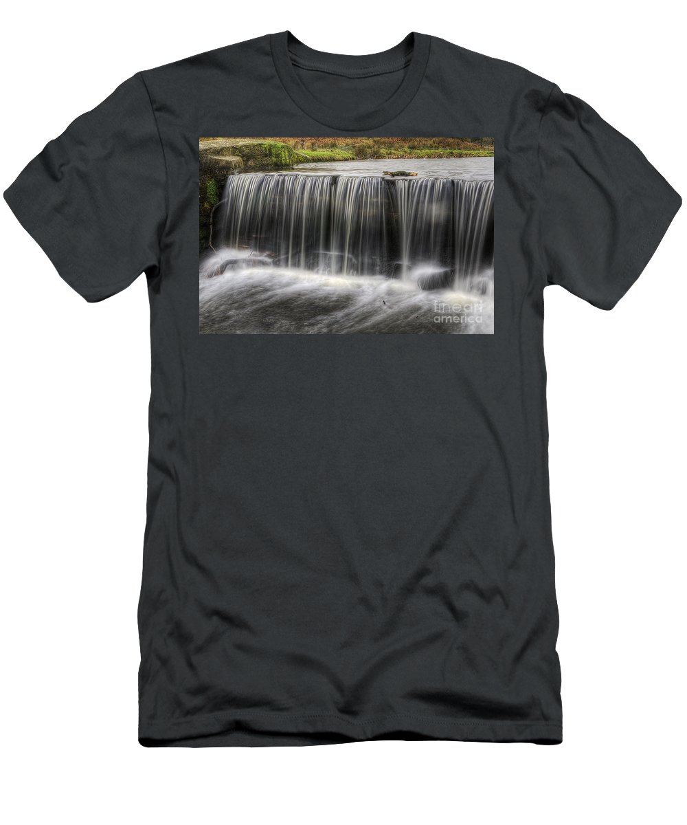 Waterfalls Men's T-Shirt (Athletic Fit) featuring the photograph Waterfalls by Yhun Suarez