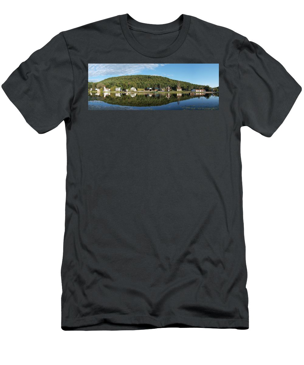 Adirondacks Men's T-Shirt (Athletic Fit) featuring the photograph Brant Lake Reflections by Joshua House