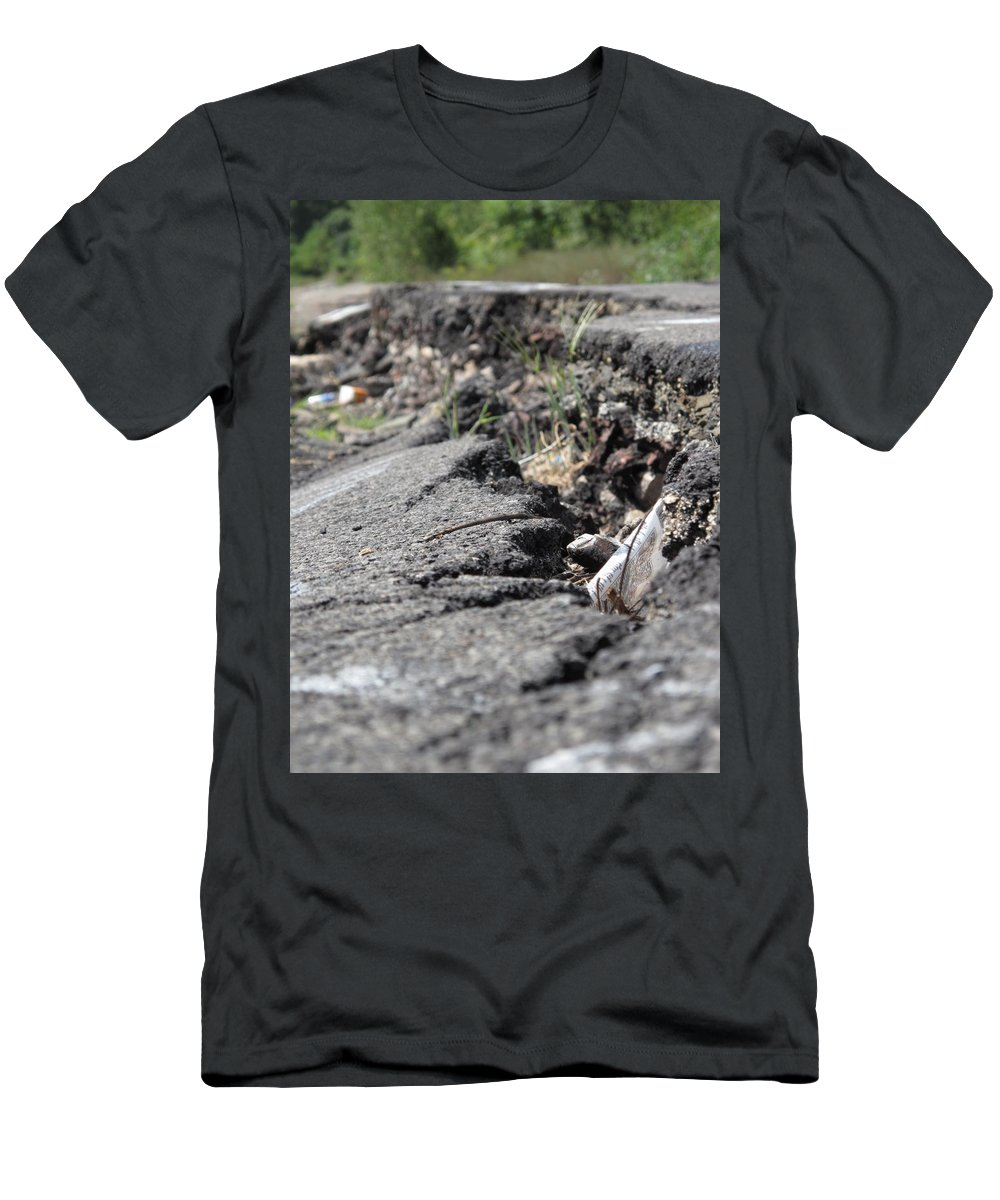 Centralia Pa Men's T-Shirt (Athletic Fit) featuring the photograph Broken Dreams by Michele Nelson