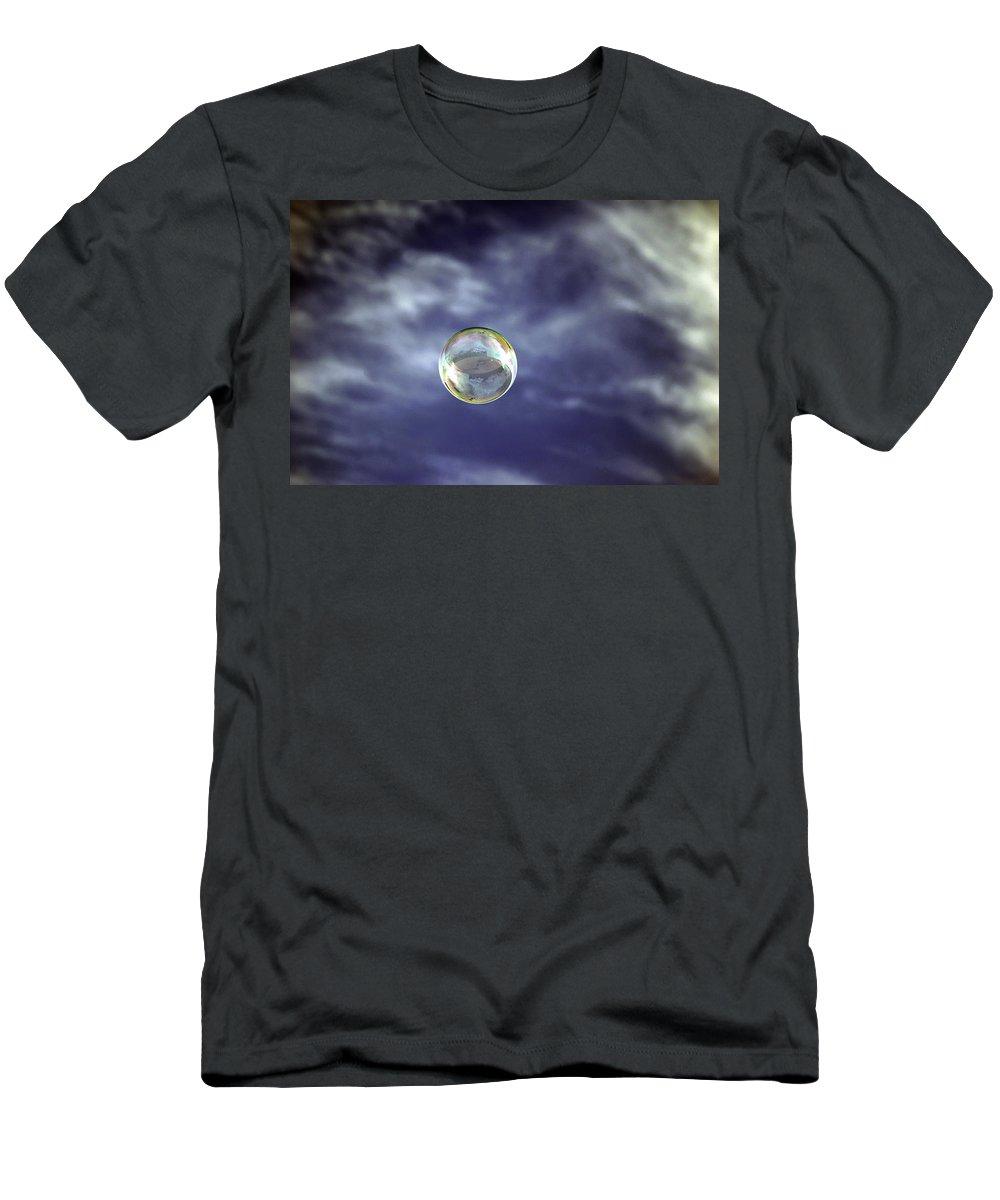Hawaii Men's T-Shirt (Athletic Fit) featuring the photograph Bubble Self Portrait by Dan McManus