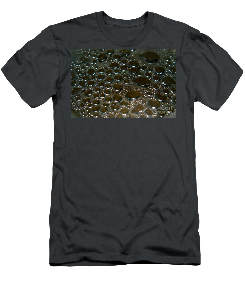 Bubble Men's T-Shirt (Athletic Fit) featuring the photograph Bubbles Of Steam Black by Ausra Huntington nee Paulauskaite