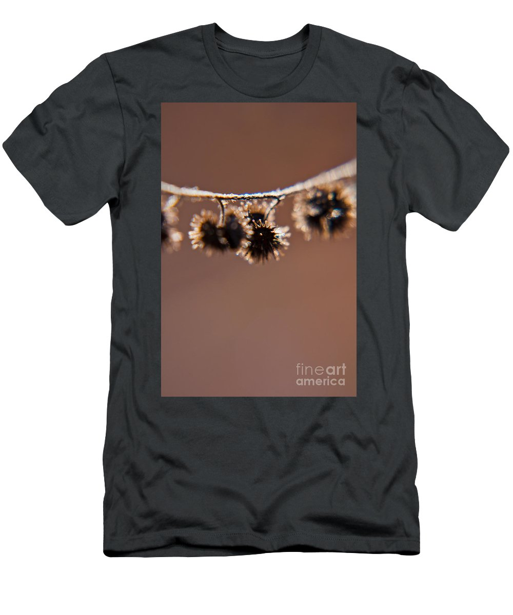 Macro Men's T-Shirt (Athletic Fit) featuring the photograph Burrs by Cheryl Baxter