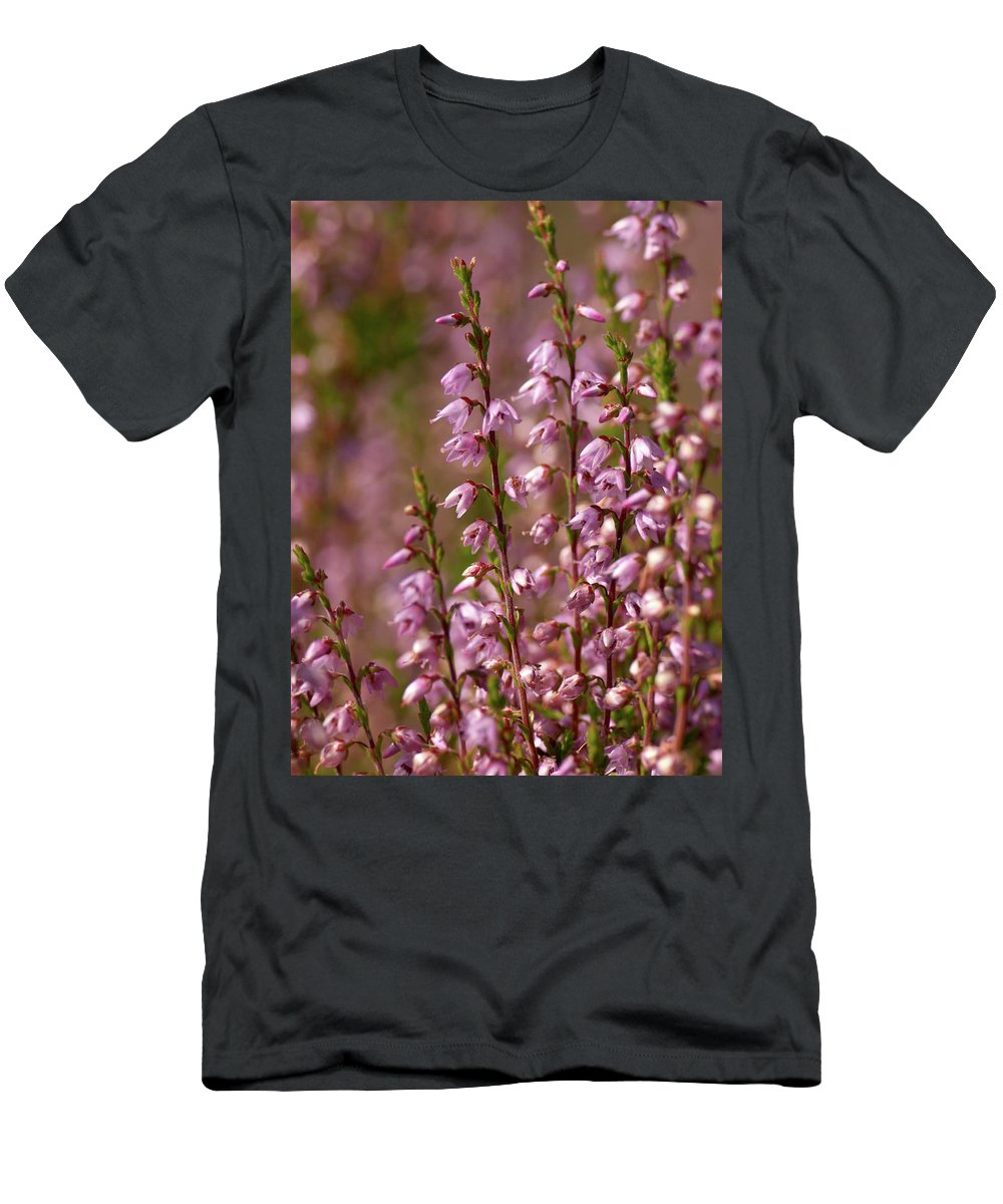 Jouko Lehto Men's T-Shirt (Athletic Fit) featuring the photograph Calluna Vulgaris 2 by Jouko Lehto