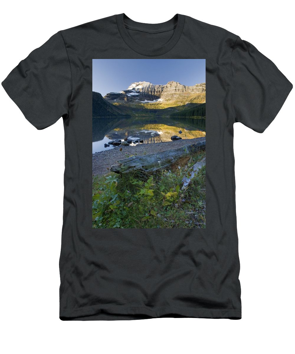 Alberta Men's T-Shirt (Athletic Fit) featuring the photograph Cameron Lake, Alberta, Canada by Philippe Widling