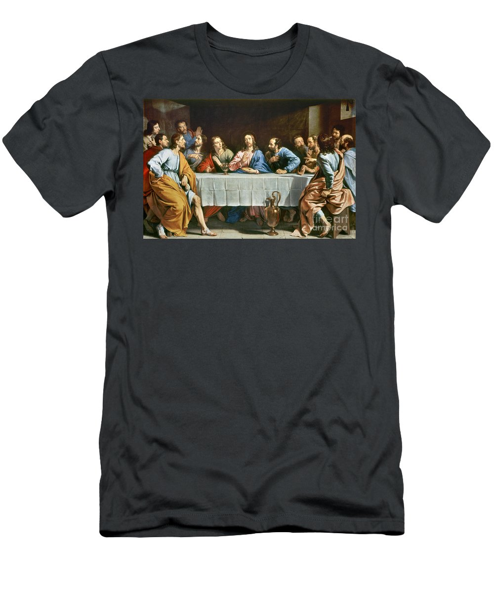 Champaigne Men's T-Shirt (Athletic Fit) featuring the photograph Champaigne: Last Supper by Granger