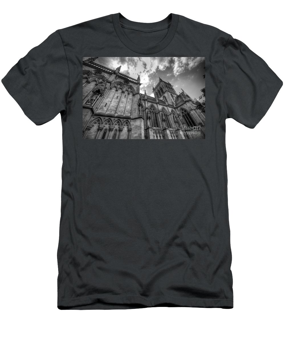 Cambridge Men's T-Shirt (Athletic Fit) featuring the photograph Chapel Of St. John's College - Cambridge by Yhun Suarez