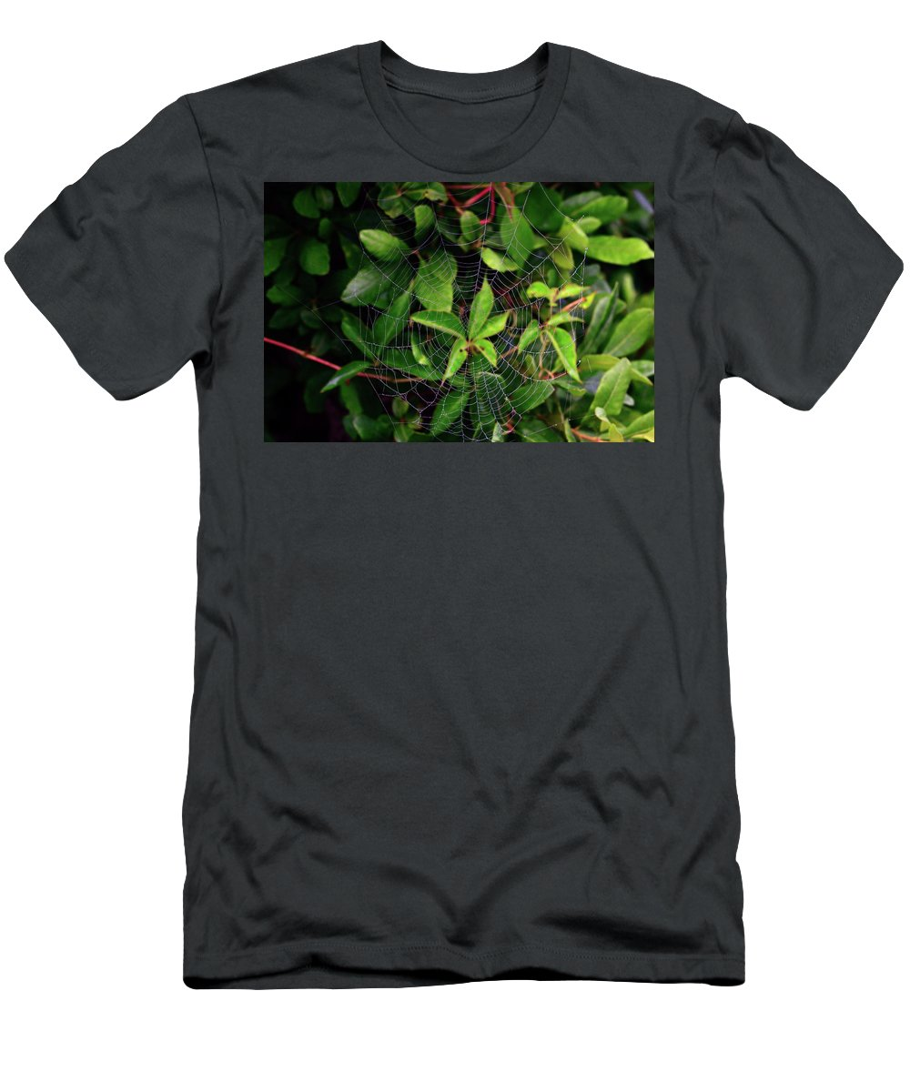 Web Men's T-Shirt (Athletic Fit) featuring the photograph Charlotte's Web by Rick Berk