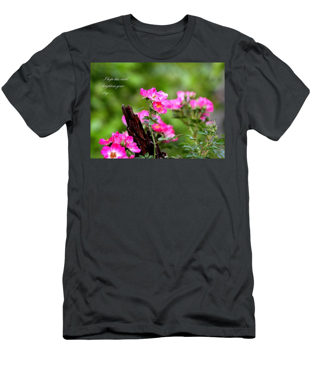 Flower Men's T-Shirt (Athletic Fit) featuring the photograph Cherokee Rose Card - Flower by Travis Truelove