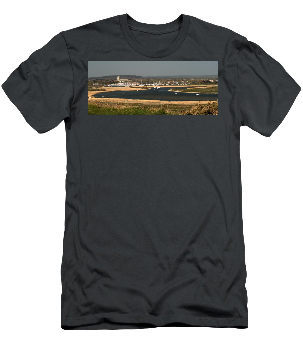 Mudeford Men's T-Shirt (Athletic Fit) featuring the photograph Christchurch Dorset by Chris Day
