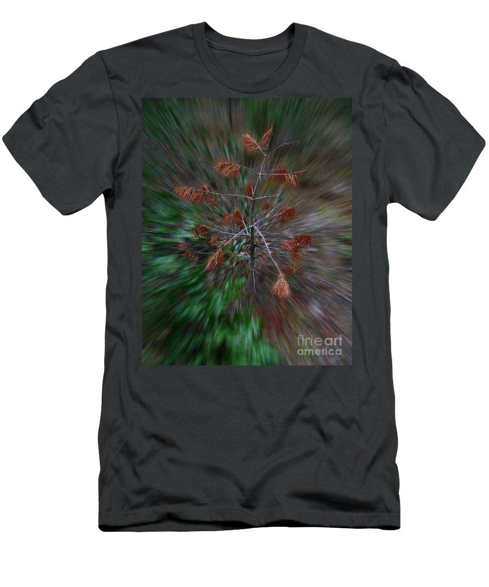 Christmas Men's T-Shirt (Athletic Fit) featuring the photograph Christmas Vertigo by Peter Piatt