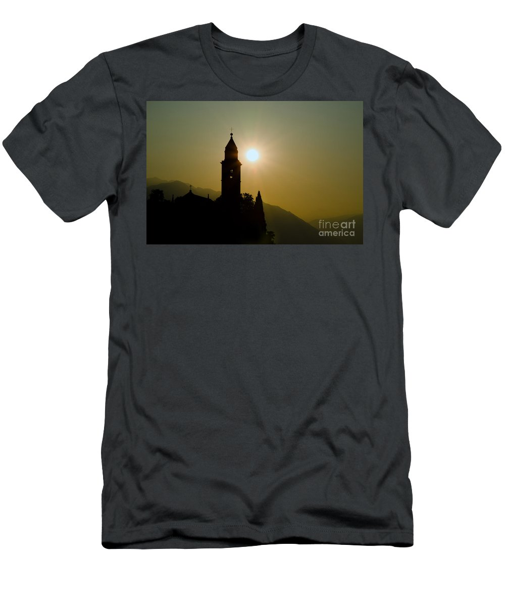 Tower Men's T-Shirt (Athletic Fit) featuring the photograph Church Tower by Mats Silvan