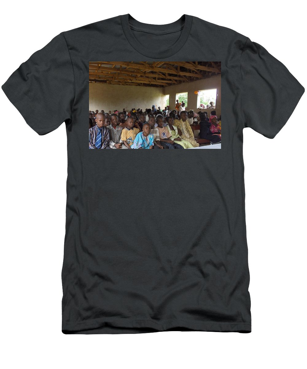 School Men's T-Shirt (Athletic Fit) featuring the photograph Classmates by Amy Hosp