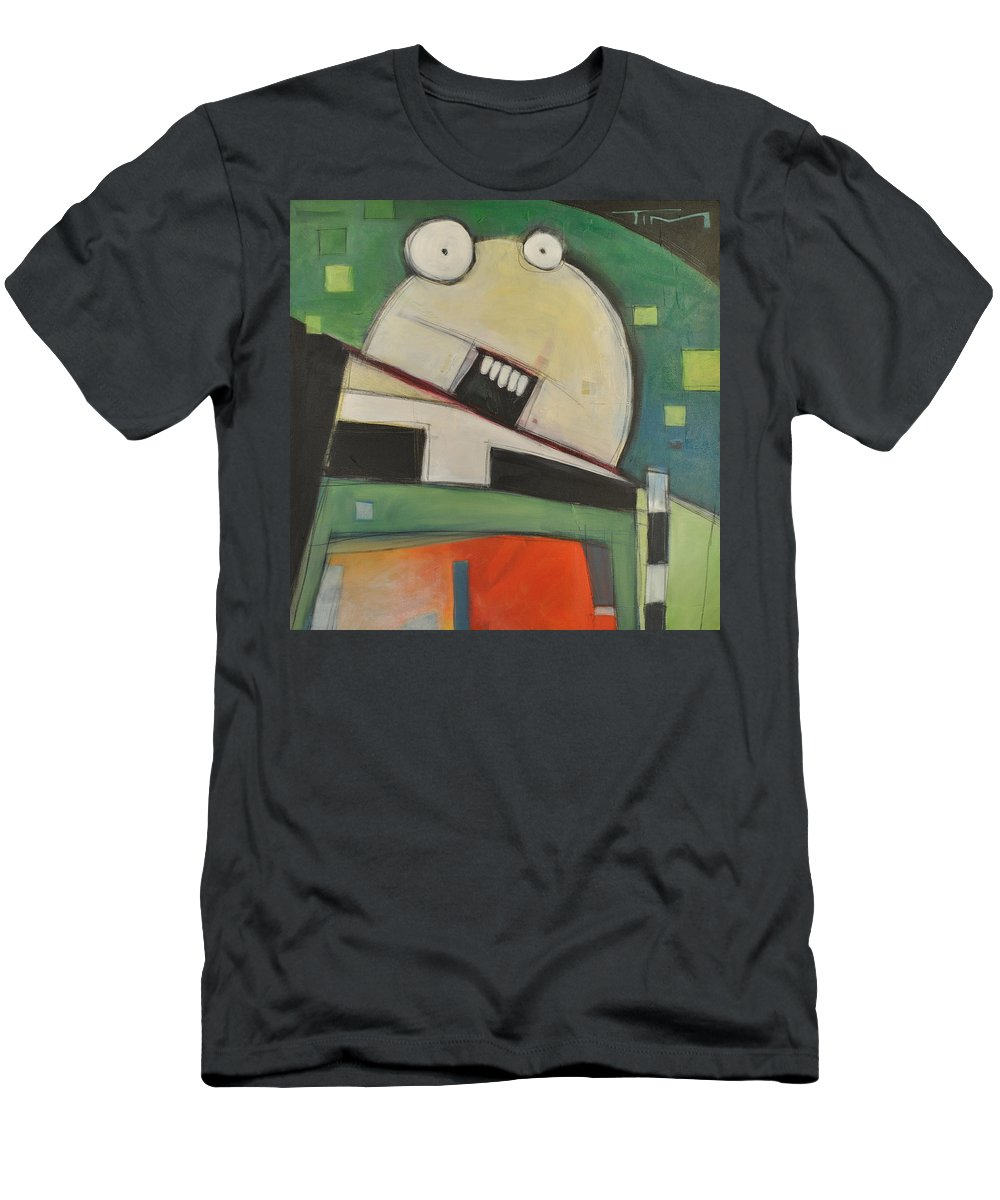 Cartoon Men's T-Shirt (Athletic Fit) featuring the painting Clergy Pants On Fire by Tim Nyberg