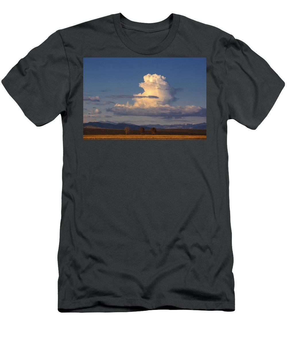 Cloud Men's T-Shirt (Athletic Fit) featuring the photograph Cloud Over San Luis Valley by Boyd Norton