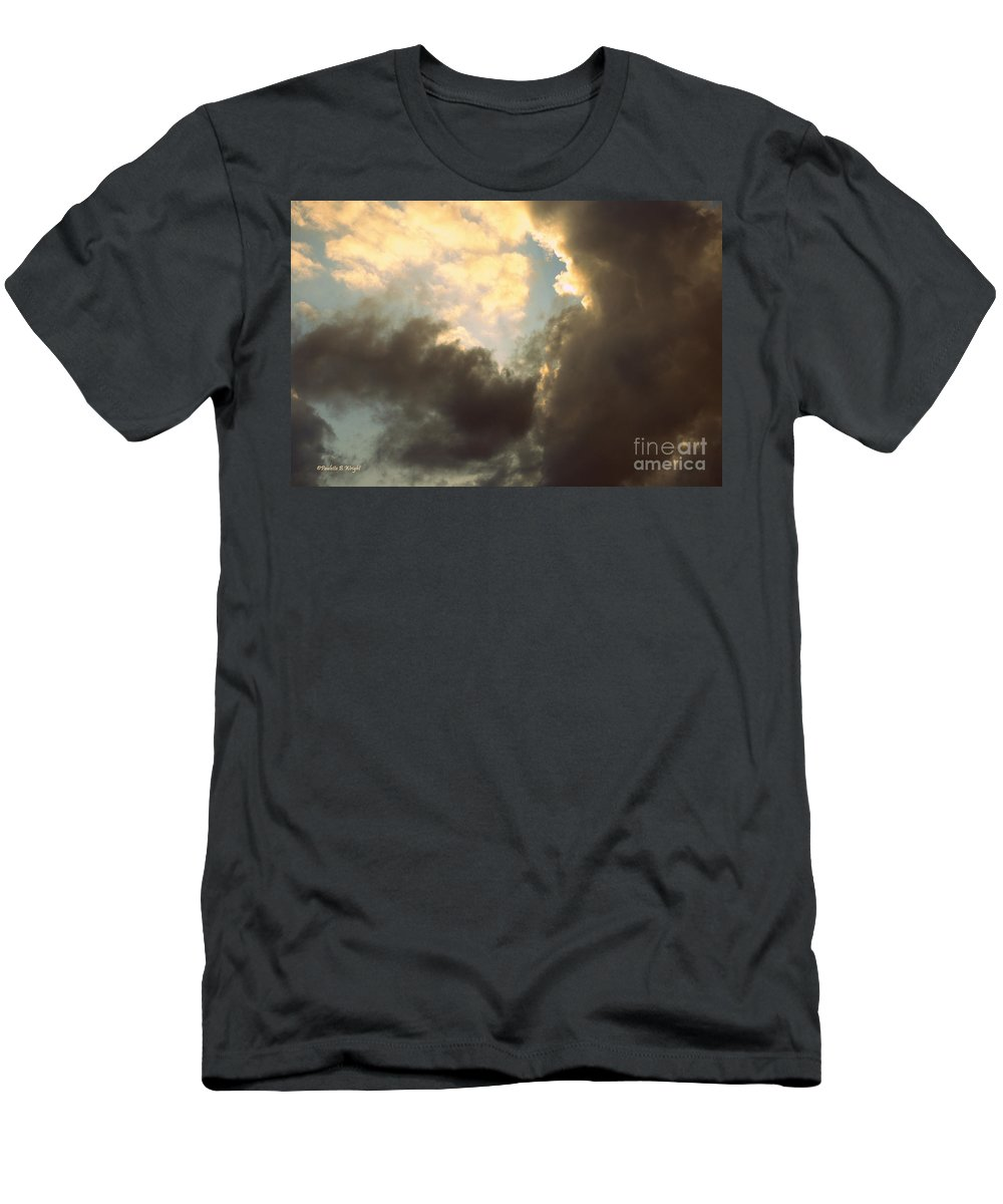 Drama Queen Men's T-Shirt (Athletic Fit) featuring the photograph Clouds-4 by Paulette B Wright