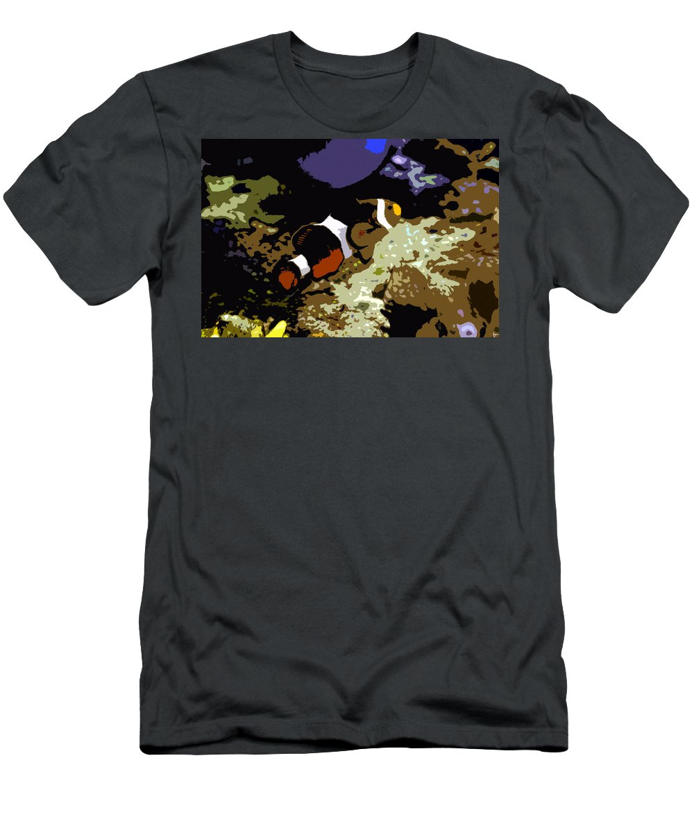 Art Men's T-Shirt (Athletic Fit) featuring the painting Clown Fish by David Lee Thompson
