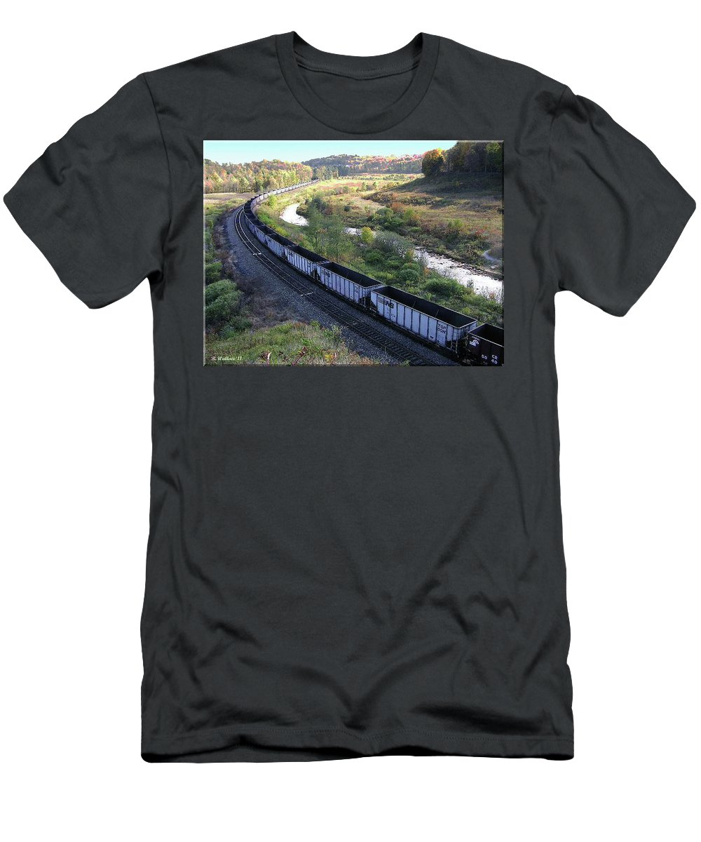 2d Men's T-Shirt (Athletic Fit) featuring the photograph Coal Train - Johnstown by Brian Wallace