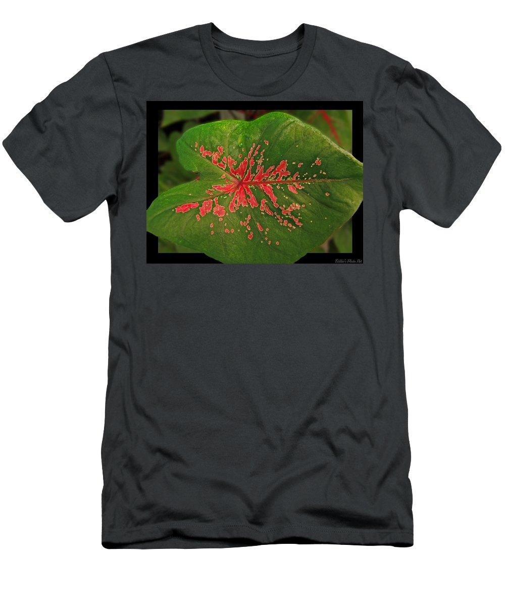 Nature Men's T-Shirt (Athletic Fit) featuring the photograph Colius Leaf by Debbie Portwood