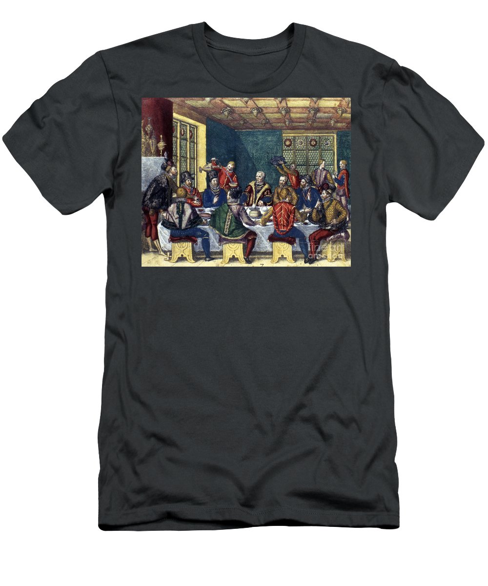 1590 Men's T-Shirt (Athletic Fit) featuring the photograph Columbus And The Egg by Granger