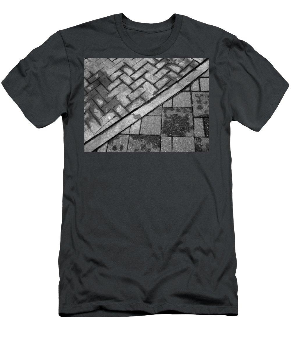 Concrete Men's T-Shirt (Athletic Fit) featuring the photograph Concrete Tile - Abstract by Deborah Crew-Johnson