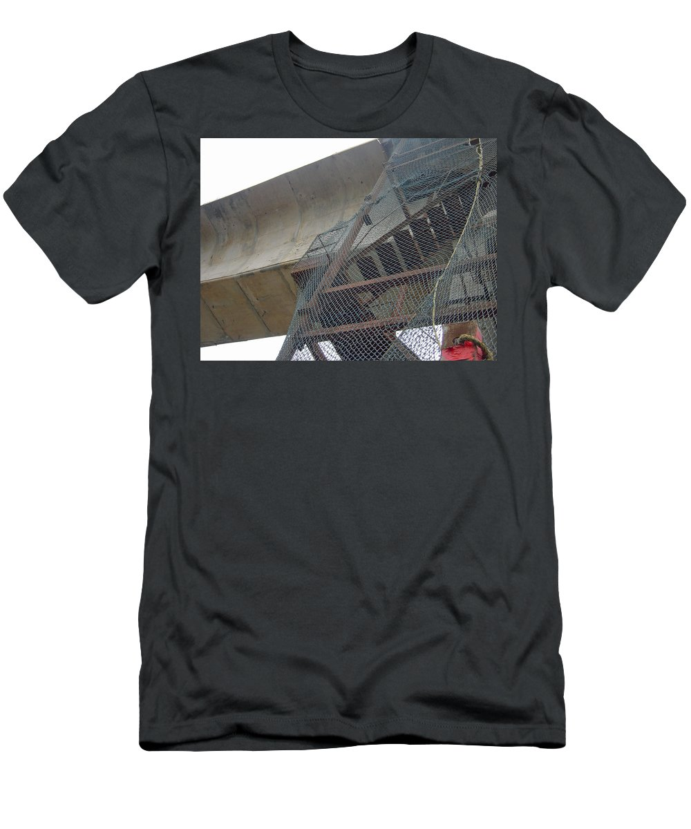 Metro Men's T-Shirt (Athletic Fit) featuring the photograph Construction Work For The Delhi Metro Along With Safety Net by Ashish Agarwal