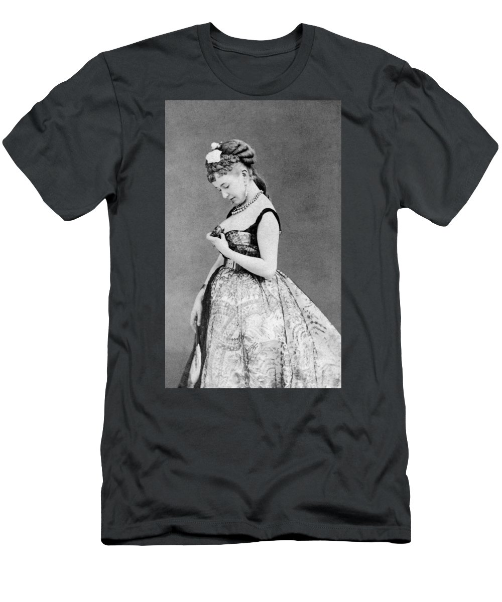 19th Century Men's T-Shirt (Athletic Fit) featuring the photograph Cora Pearl (c1835-1886) by Granger